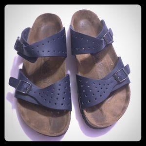 Birkenstock Birki's navy double straps sandals